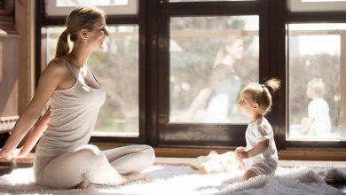 تمرین مادر پس تولد نوزادش